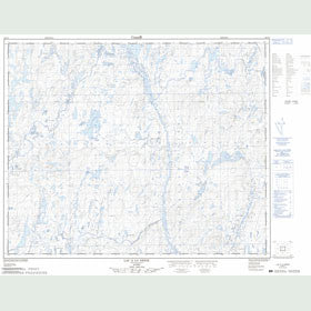 Canadian Topo Map - Lac à la Neige - Map 023C05