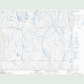 Canadian Topo Map - Lac Cananville - Map 023C07