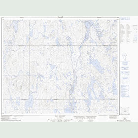 Canadian Topo Map - Lac Georget - Map 023C08