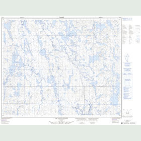 Canadian Topo Map - Lac Saint-Julien - Map 023C09