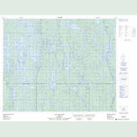 Canadian Topo Map - Lac Soulard - Map 023C10