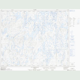 Canadian Topo Map - Lac Despinolles - Map 023C11
