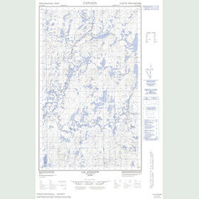 Canadian Topo Map - Lac Atticoupi - Map 023C12E