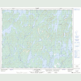 Canadian Topo Map - Lac Vallard - Map 023C14