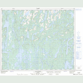 Canadian Topo Map - Lac Hublet - Map 023C15