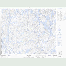 Canadian Topo Map - Lac Goupil - Map 023C16