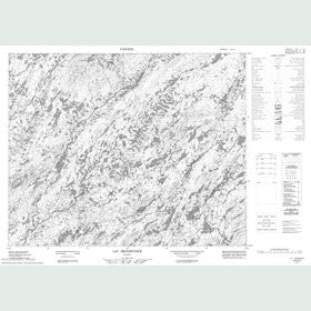 Canadian Topo Map - Lac Provencher - Map 023D02