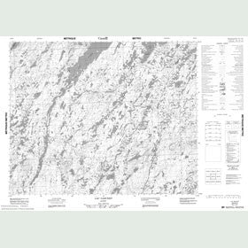 Canadian Topo Map - Lac Gaschet - Map 023D03
