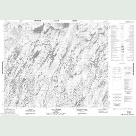 Canadian Topo Map - Lac Laparre - Map 023D04