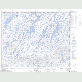 Canadian Topo Map - Lac Fromont - Map 023D05