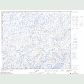 Canadian Topo Map - Lac Manet - Map 023D06