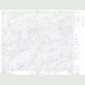 Canadian Topo Map - Lac Conflans - Map 023D07