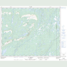 Canadian Topo Map - Lac Pariseau - Map 023D08