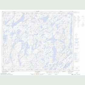 Canadian Topo Map - Lac Daran - Map 023D13