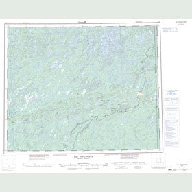 Canadian Topo Map - Lac Naococane - Map 023D
