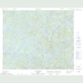 Canadian Topo Map - Lac Dumesnil - Map 023E01