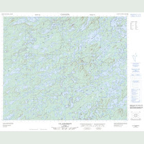 Canadian Topo Map - Lac Agramonte - Map 023E06