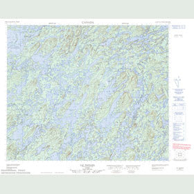 Canadian Topo Map - Lac Taffanel - Map 023E07