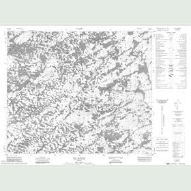 Canadian Topo Map - Lac Alayrac - Map 023E13