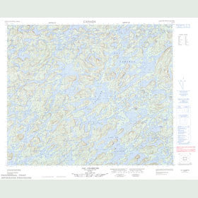 Canadian Topo Map - Lac Chambure - Map 023E15