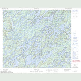 Canadian Topo Map - Lac Montviel - Map 023E16