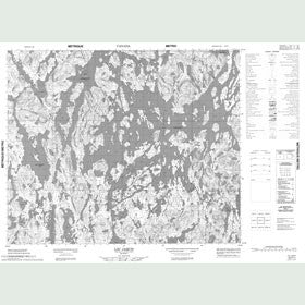 Canadian Topo Map - Lac Jaquis - Map 023F01