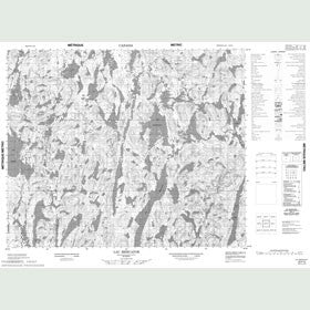 Canadian Topo Map - Lac Mercator - Map 023F02