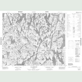 Canadian Topo Map - Lac Delmothe - Map 023F03