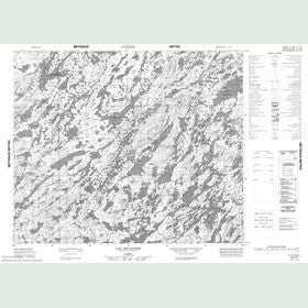 Canadian Topo Map - Lac Devannes - Map 023F05