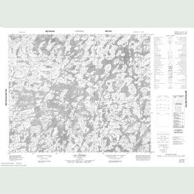 Canadian Topo Map - Lac Bermen - Map 023F10