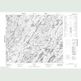 Canadian Topo Map - Lac Viau - Map 023F12