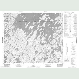 Canadian Topo Map - Map 023F13