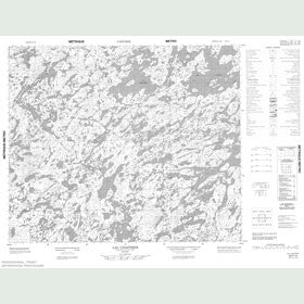 Canadian Topo Map - Lac Chastrier - Map 023F14