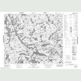 Canadian Topo Map - Lac Sauvageau - Map 023F15