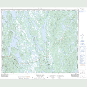 Canadian Topo Map - Wightman Lake - Map 023G01