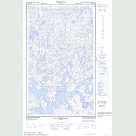 Canadian Topo Map - Lac Opiscotiche - Map 023G04E