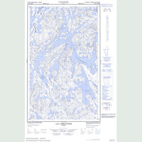 Canadian Topo Map - Lac Opiscotiche - Map 023G04W