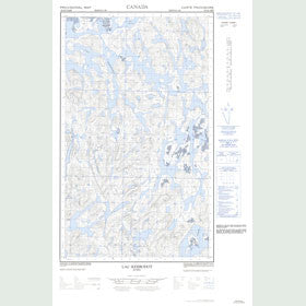 Canadian Topo Map - Lac Kerbodot - Map 023G05E