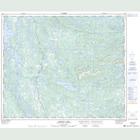 Canadian Topo Map - Evening Lake - Map 023G09