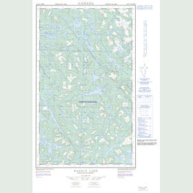 Canadian Topo Map - Rannie Lake - Map 023G10W