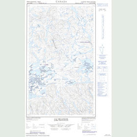 Canadian Topo Map - Lac Bellenger - Map 023G11W
