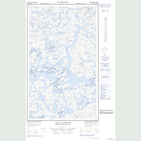 Canadian Topo Map - Lac la Jannaye - Map 023G12E