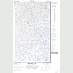 Canadian Topo Map - Lac Descayrac - Map 023G13W