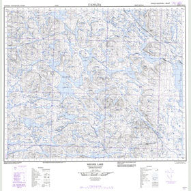Canadian Topo Map - Milner Lake - Map 023G15