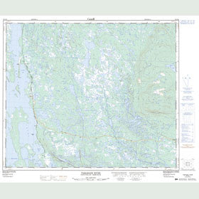 Canadian Topo Map - Tamarack River - Map 023G16