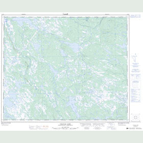 Canadian Topo Map - Chaulk Lake - Map 023H01
