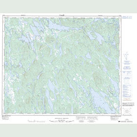 Canadian Topo Map - Map 023H04
