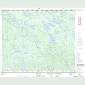 Canadian Topo Map - Cissy Lake - Map 023H05