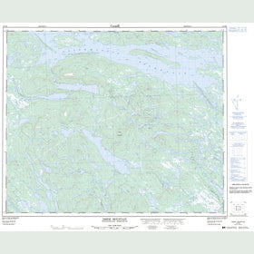 Canadian Topo Map - Ossok Mountain - Map 023H06