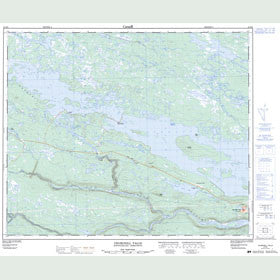 Canadian Topo Map - Churchill Falls - Map 023H09